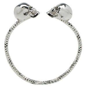 Alexander McQueen Jewelry - Alexander McQueen Crystal Twin Skull Bracelet